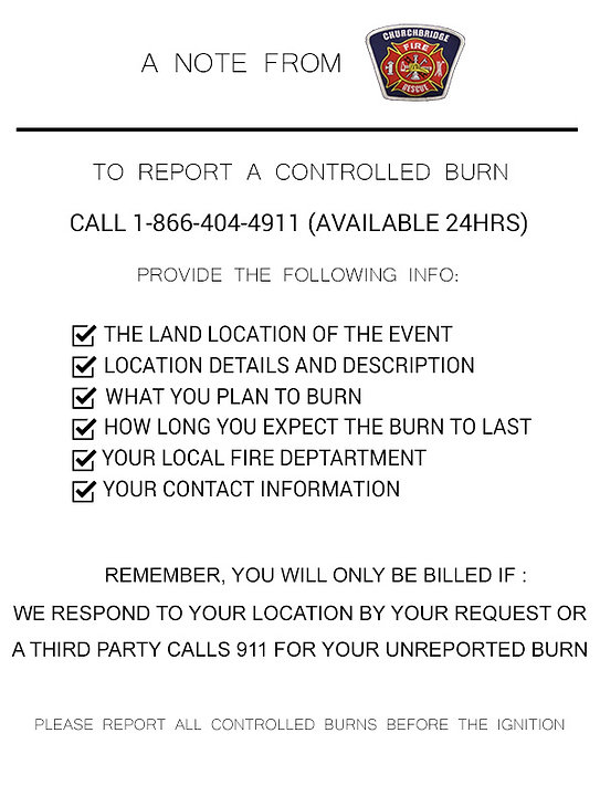 Controlled Burn Infomation