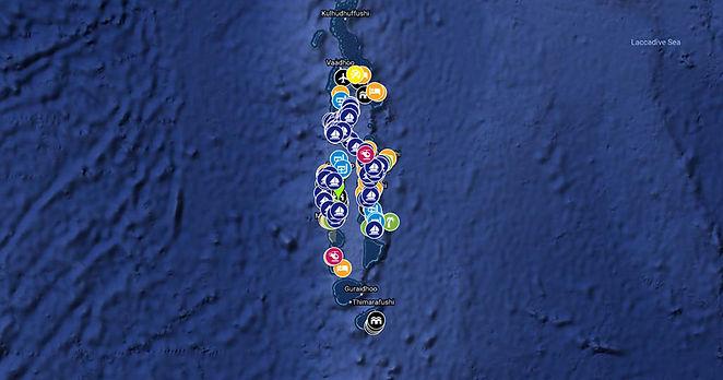 Mapa Malediv