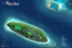 Royal Island, Maledivy, mapa ostrova