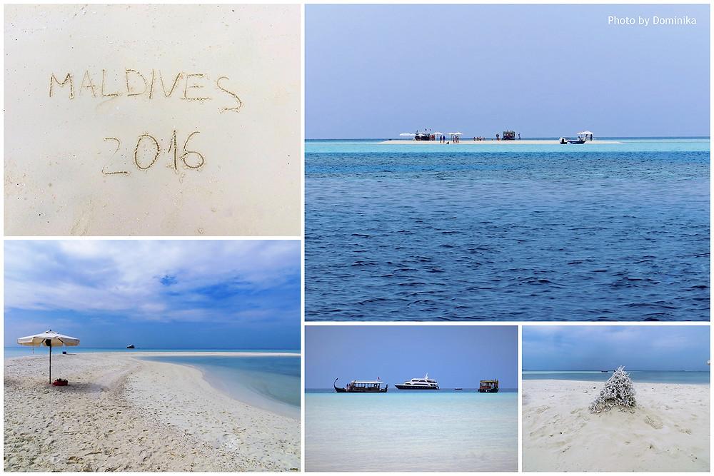 Výlet na sand bank, Vaavu atol, Maledivy