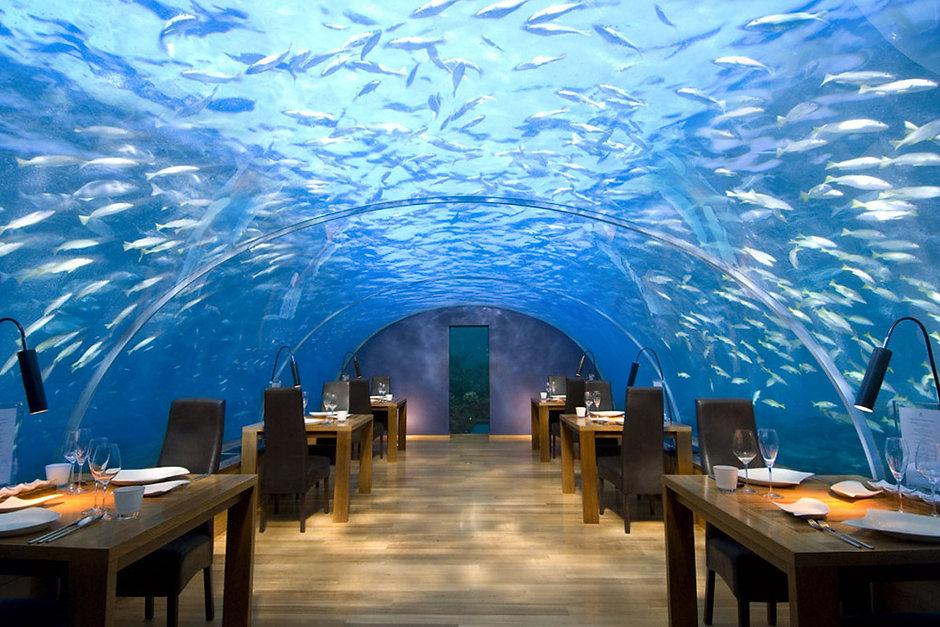 Ithaa Undersea Restaurant, Conrad Rangali, Maledivy