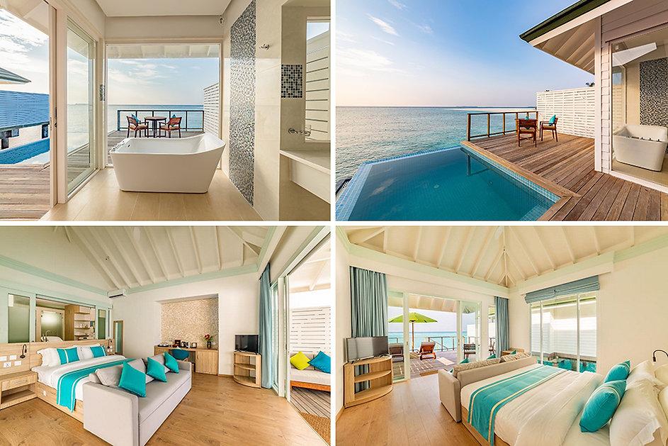 Water Villa With Pool and Slide, Siyam World
