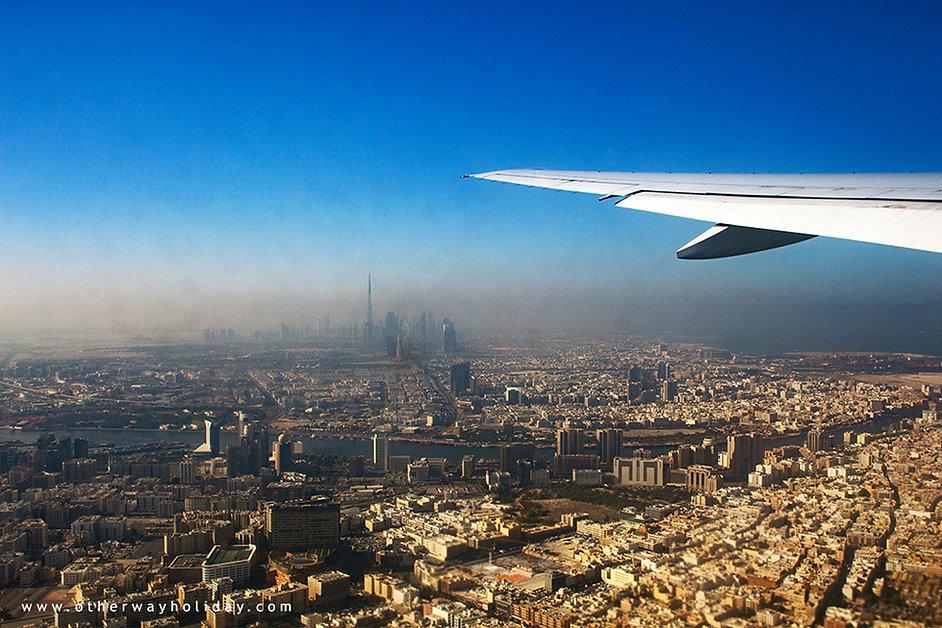 Dubaj, let z Malediv do Prahy