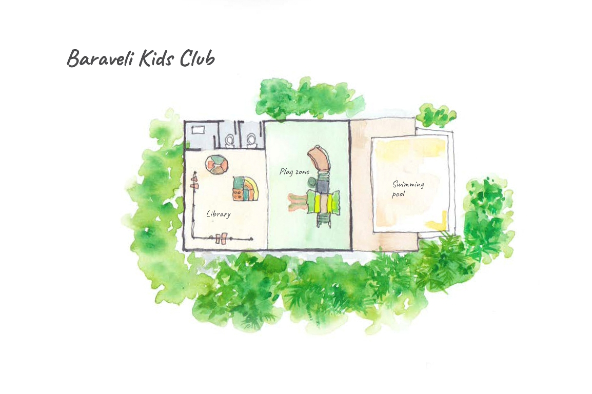 Dhigufaru Island Resort, Baa Atoll, Maldives - Floor Plans - Baraveli Kids Club