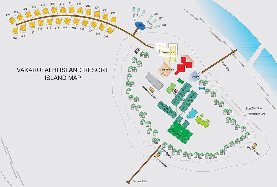 Mapa Vakarufalhi, Maledivy