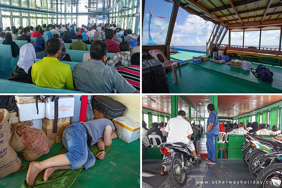 Veřejný trajket Maledivy, vybavení trajektu