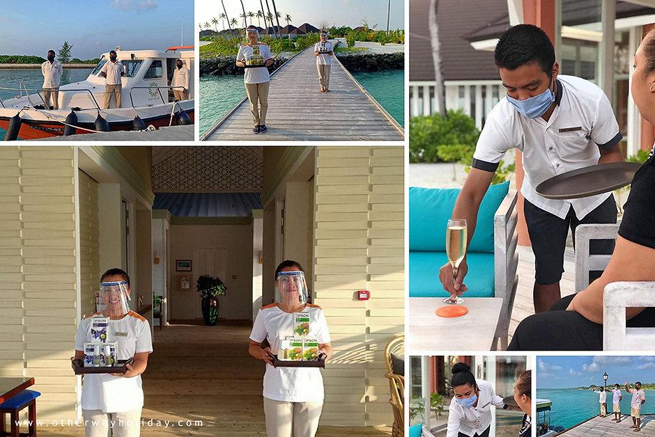 Preventivní opatření proti Covid-19, Sun Siyam Olhuveli, Maledivy
