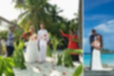 Vakarufalhi, svatba na pláži, Maledivy