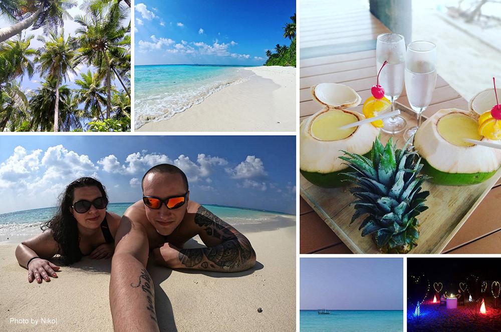 Ostrov Dhigurah a Thinadhoo, Maledivy