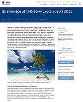 ERV, Evropská pojišťovna, Maledivy 2020