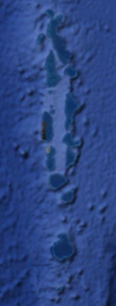 Mapa Maledivy
