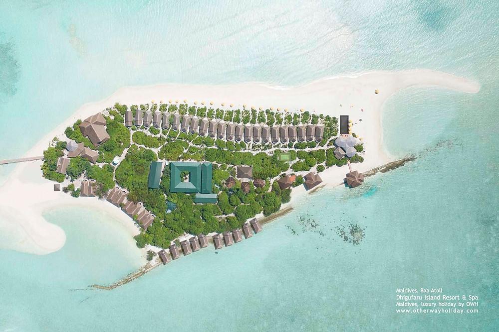 Dhigufaru Resort, Baa atol, Maledivy