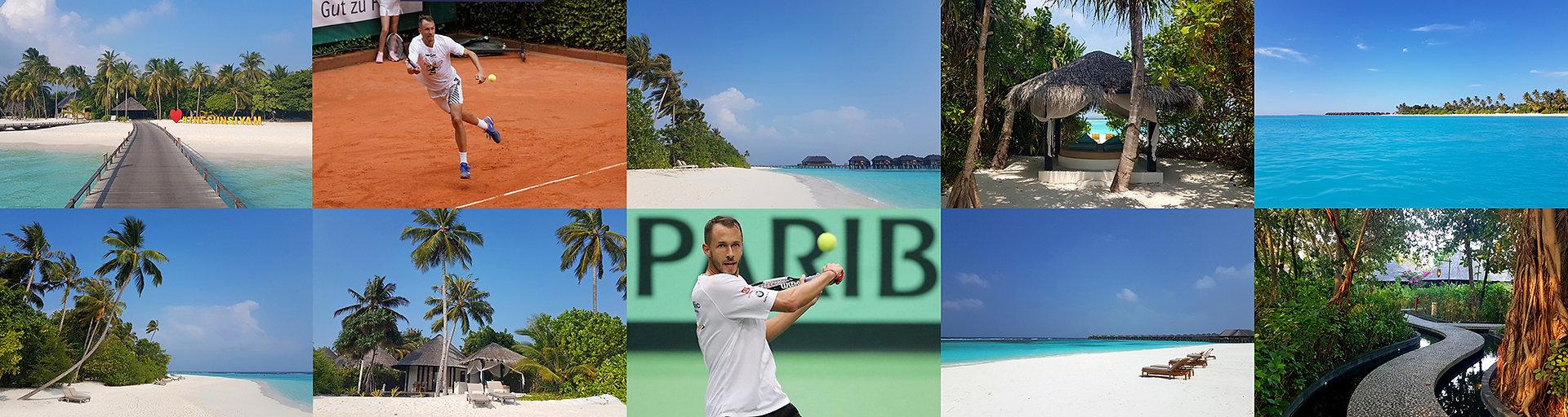 Tenis a teniové kurty na Maldivách