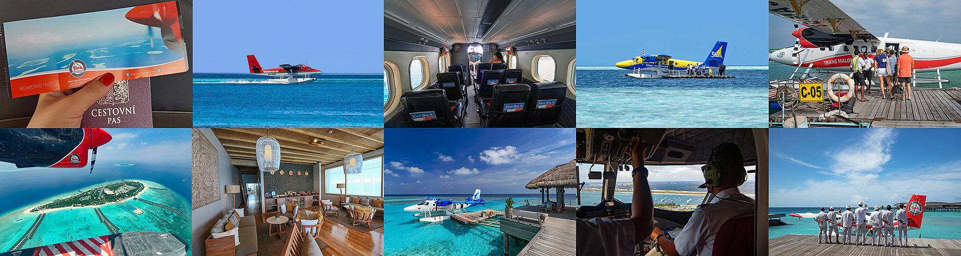 Hydroplány na Maledivách