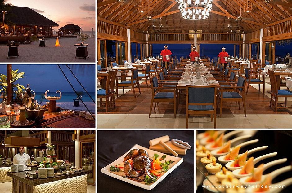 Vakarufalhi, restaurace Ilaa, Maledivy