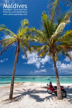 Pláž na Hulhumale'.