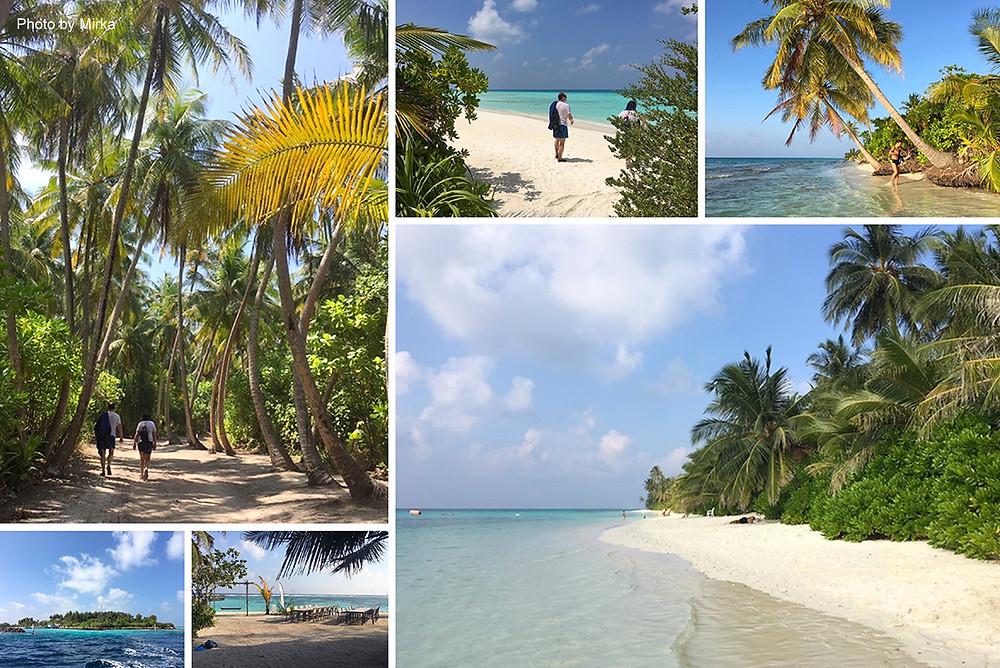 Ostrov Dhigurah a Thinadhoo, Maledivy.