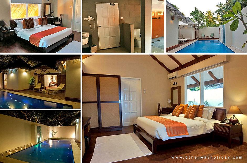 Vakarufalhi, Pool Villa, Maledivy