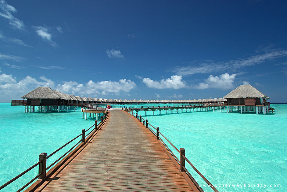 Vodní vily, Vilu Reef, Maledivy