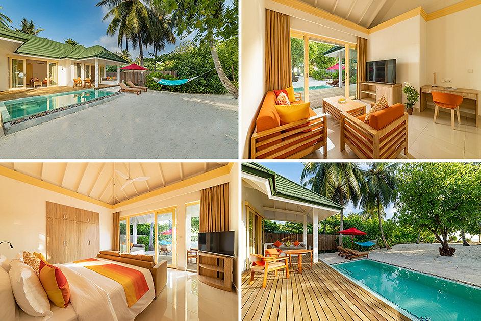 Two Bedroom Pool Beach Villa & Two Bedroom Family Pool Beach Villa, Siyam World, Noonu ato
