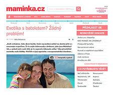 Maledivy, exotika s batoletem, Maminka.cz