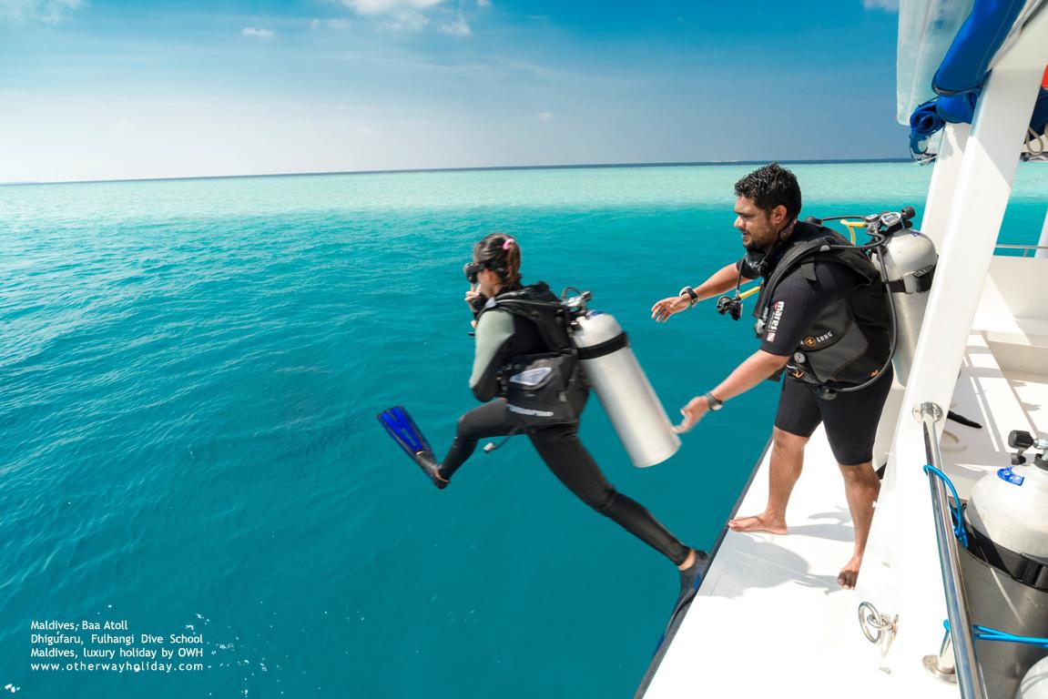 Dhigufaru Island Resort, Baa Atoll, Maldives -Fulhangi Dive School