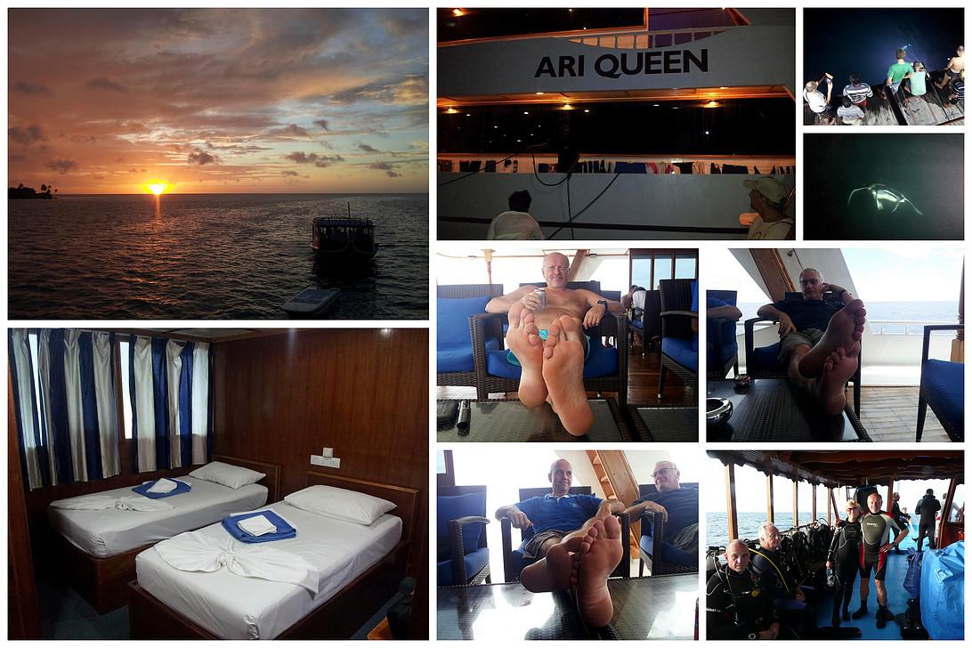 Maledivy, loď Ari Queen