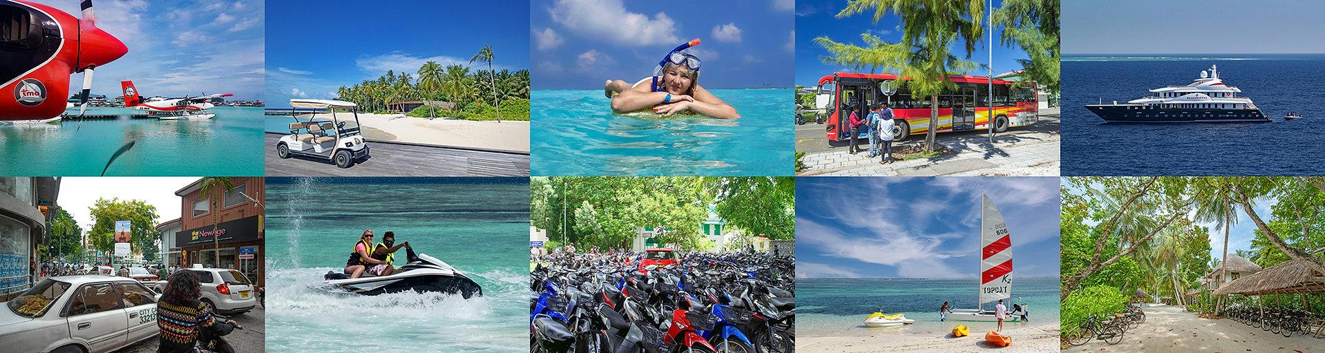 Pronájem dopravních prostředků na Maledivách