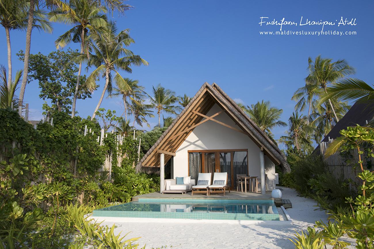 Fushifaru Maldives, Pool Beach Villa Sunset