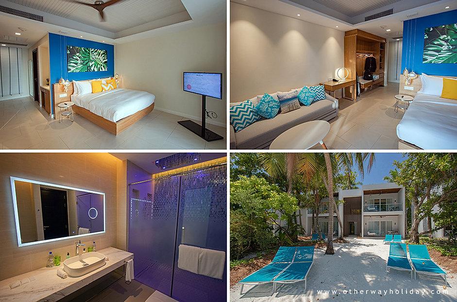 Kandima, Sky & Beach Studios, Maledivy.j