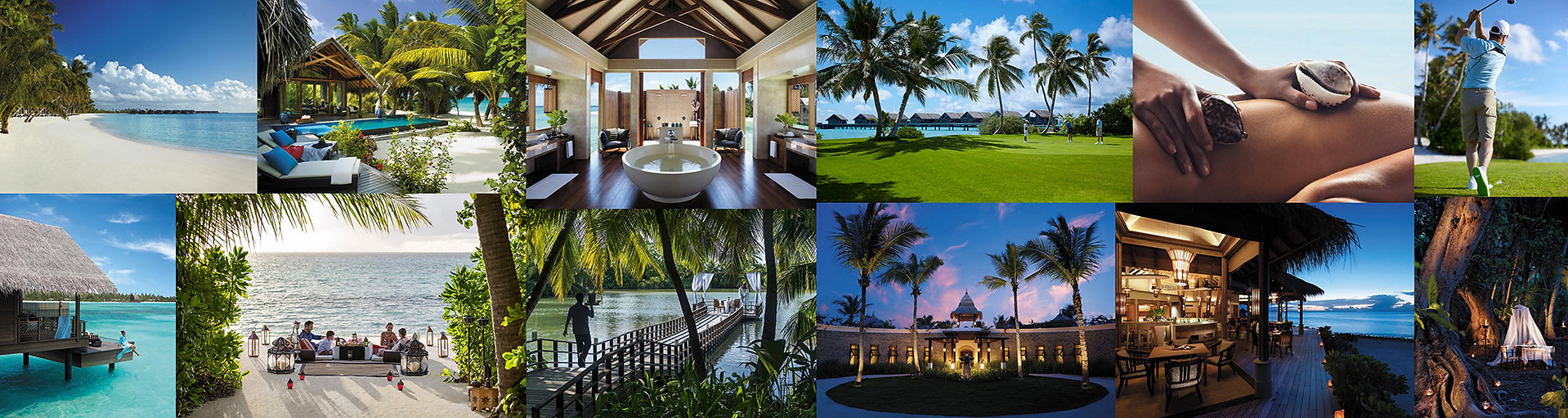 Golfová dovolená, resort Shangri-La Villingili na Maledivách.