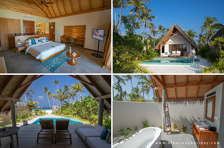 Fushifaru, Pool Beach Villa Sunset, Male