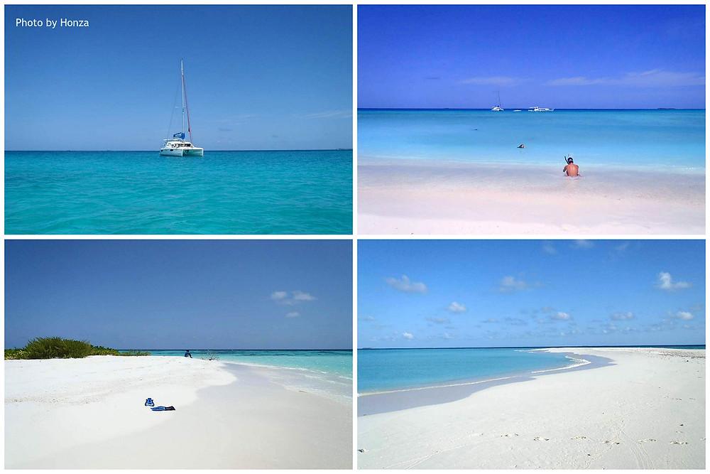 Maledivy - sand bank