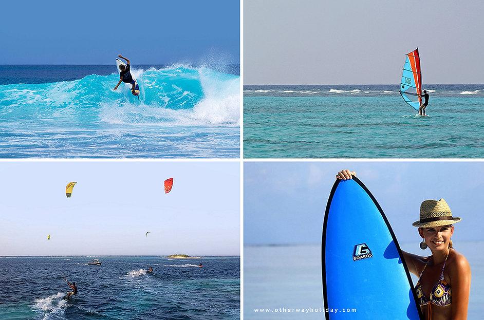 Surf, Windsurfing, Kitesurfing, Maledivy