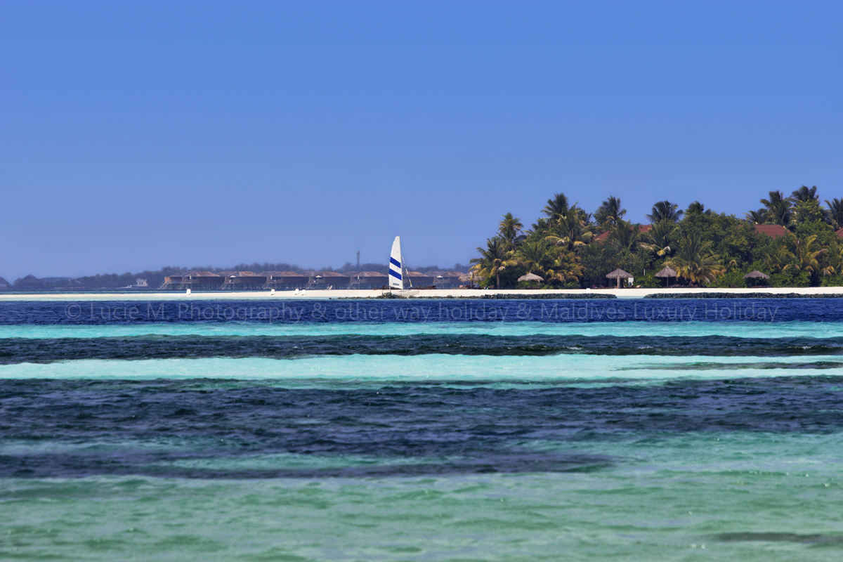 Flickr - View from Island Dhangethi, front is Ranveli Resort, back is Vilamendho