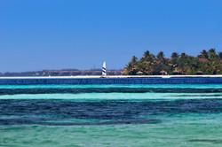 Flickr - View from Island Dhangethi, front is Ranveli Resort, back is Vilamendho