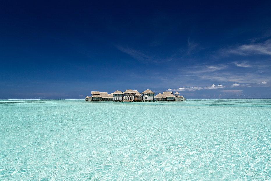 Vodní vila, Gili Lankanfushi, Male atol, Maledivy