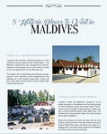 Maldivian Holidays 2017
