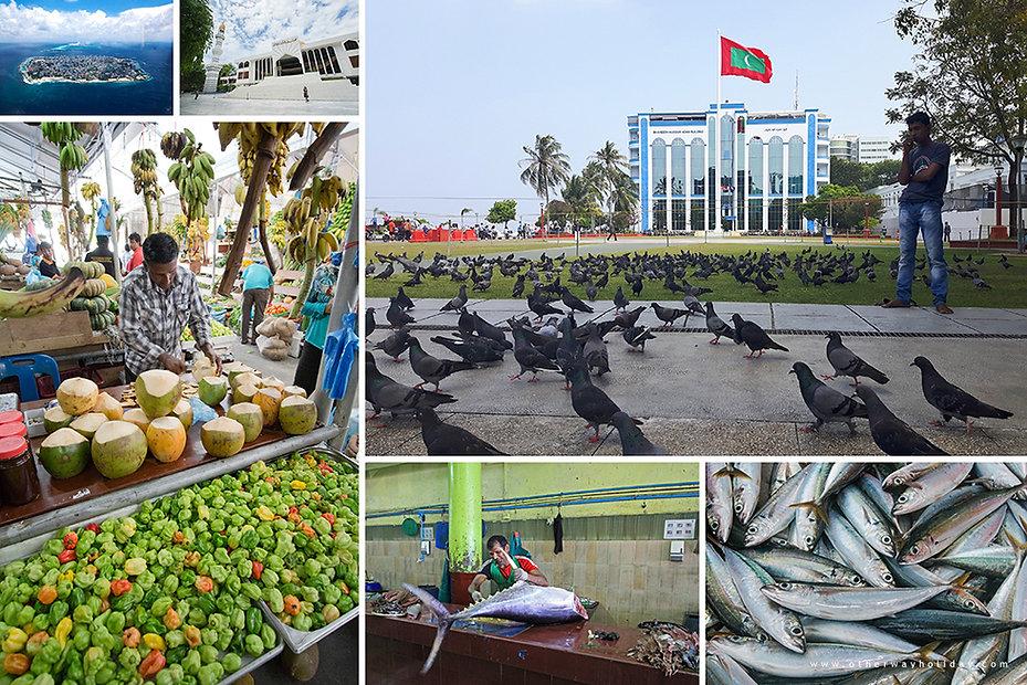 Male, rybí a zeleninový trh, Maledivy