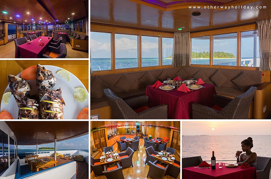 Maldives Explorer, Restaurace, Maledivy