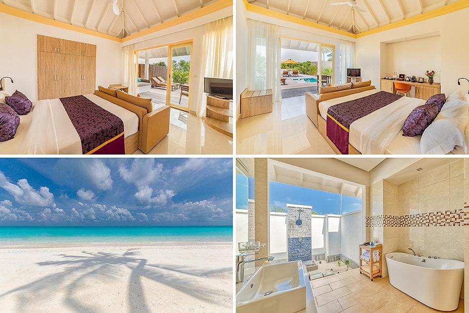 Pool Beach Villa, Siyam World, Noonu atol, Maledivy