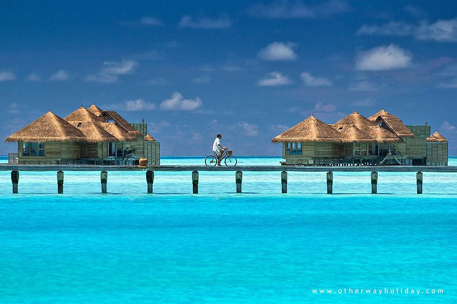 Vodní vily, Gili Lankanfushi, Maledivy