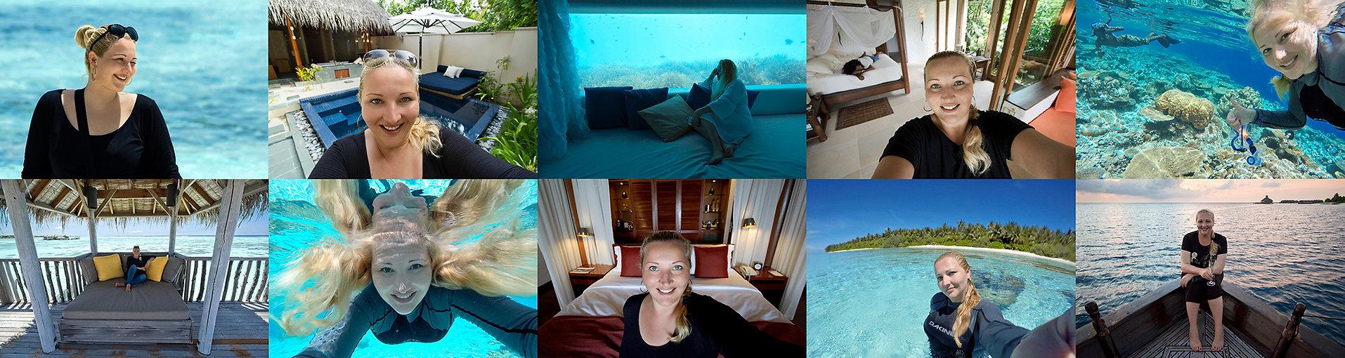 Lucie Mohelníková na Maledivách