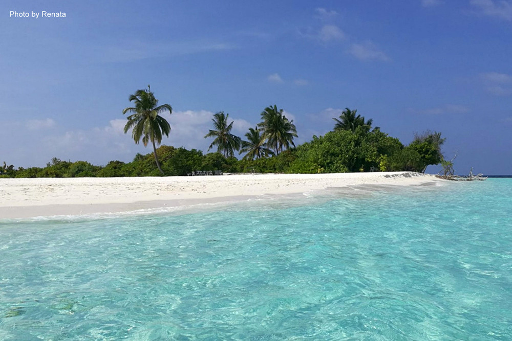 Alikoi Rah / Meerufenfushi na Alif Dhaal atolu na Maledivách.