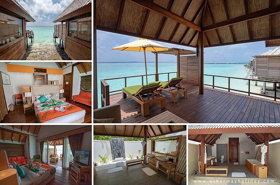 Semi Water Villas, Dhigufaru, Baa atol,