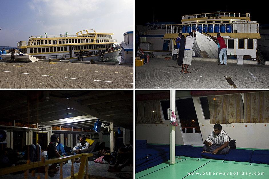 Noční trajekt, Maledivy, night ferry