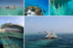 Šnorchlování na potopeném vraku na Maledivách
