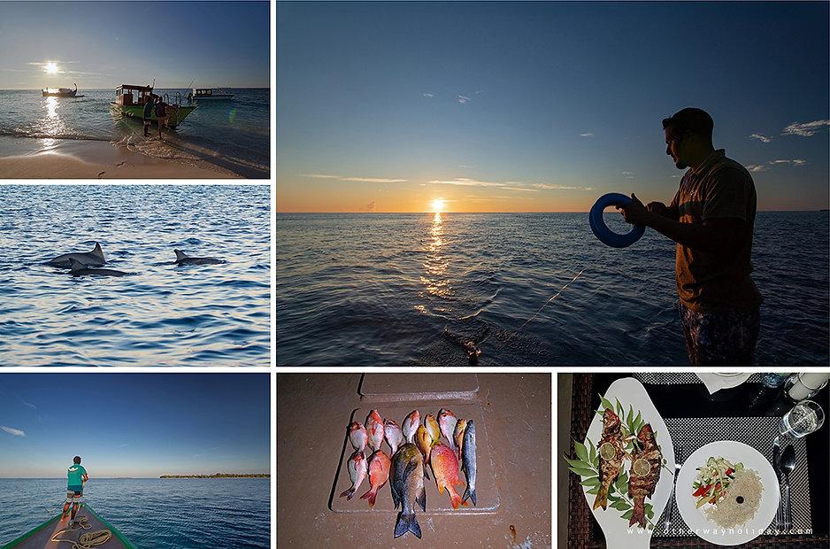 Rybolov, Fodhdhoo, Noonu atol, Maledivy.