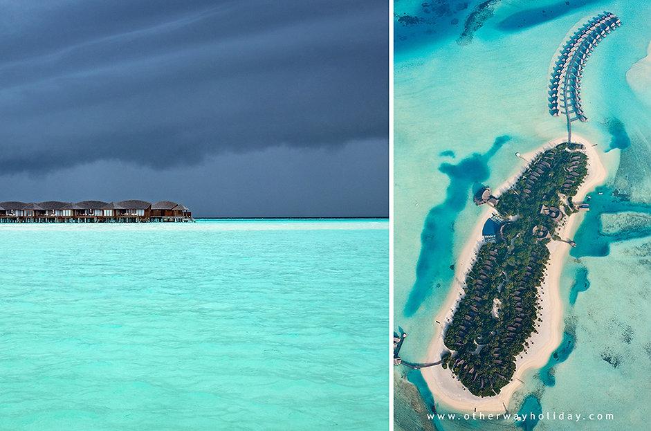 Vodní vily, Anantara Dhigu, Maledivy