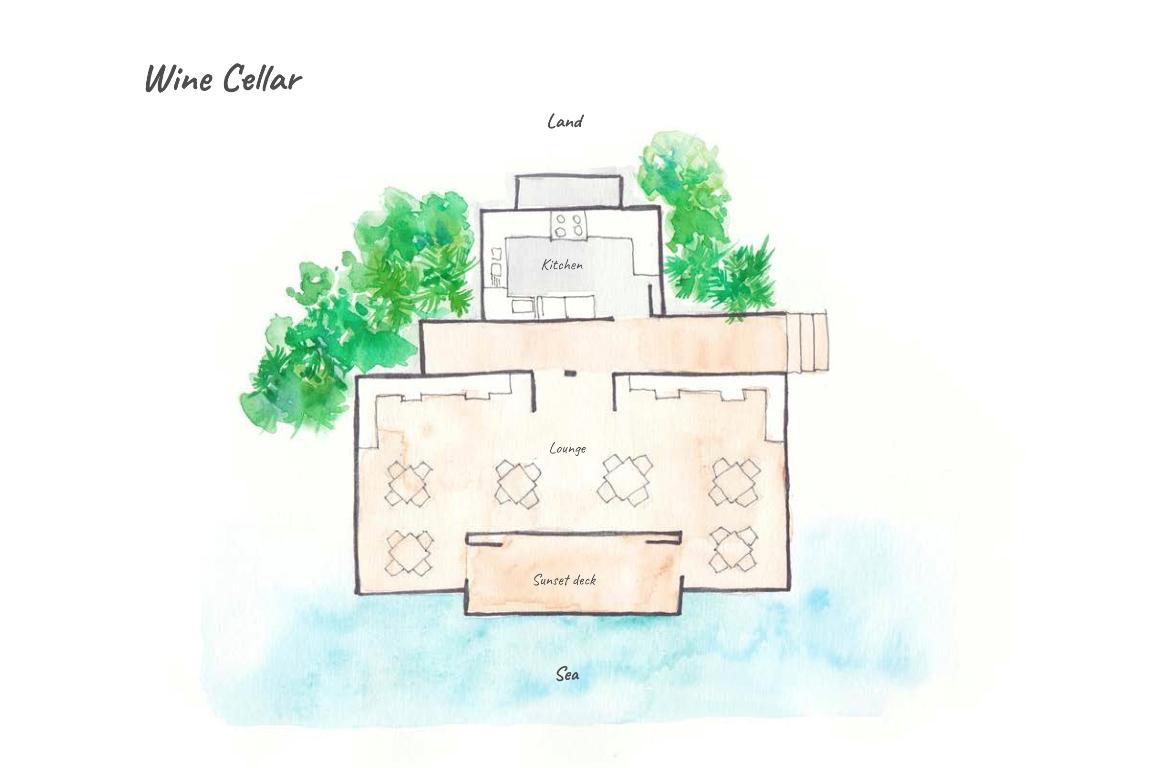 Dhigufaru Island Resort, Baa Atoll, Maldives - Floor Plans - Athiri Resturant & Wine Cellar
